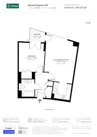 Large floorplan for New Providence Wharf, Canary Wharf, E14