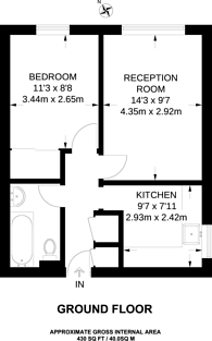 Large floorplan for Lee Park, Blackheath, SE3