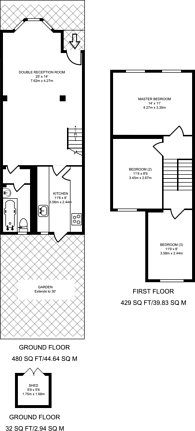 Large floorplan for Dunmow Road, Stratford, E15