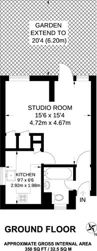 Large floorplan for Wandon Road, Fulham Broadway, SW6