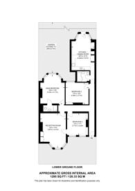Large floorplan for Jacksons Lane, Highgate, N6