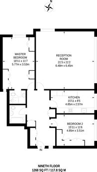 Large floorplan for Somerset Road, Wimbledon Village, SW19