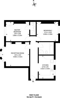 Large floorplan for Nottingham Street, Marylebone, W1U