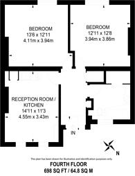 Large floorplan for Chalton Street, Euston, NW1