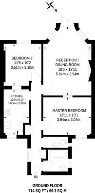 Large floorplan for Mapesbury Court, Kilburn, NW2