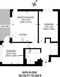 Large floorplan for Shamrock House, Sydenham, SE26