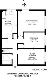 Large floorplan for Hackington Crescent, Beckenham, BR3