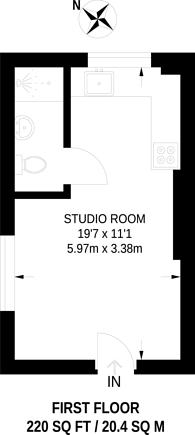 Large floorplan for West Green Road, Turnpike Lane, N15