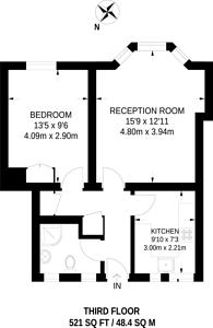 Large floorplan for Ebury Bridge Road, Pimlico, SW1W