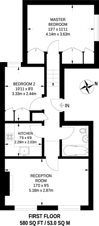 Large floorplan for Upper Tachbrook Street, Pimlico, SW1V