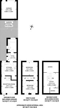 Large floorplan for Fountain Road, Thornton Heath, CR7