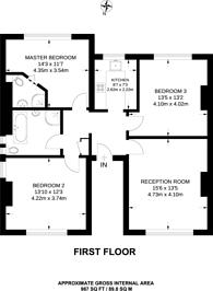 Large floorplan for St Pauls Road, Thornton Heath, CR7