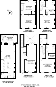 Large floorplan for Coptic Street, Covent Garden, WC1A