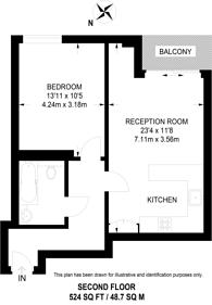 Large floorplan for Bush House, Berber Parade, Woolwich, SE18