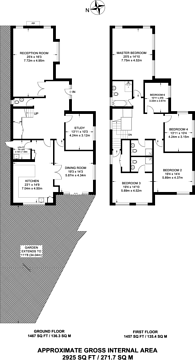 Large floorplan for Edwards Way, Brockley, SE4