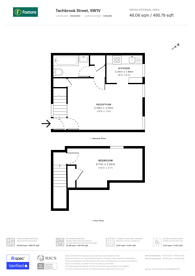 Large floorplan for Stourhead House, Pimlico, SW1V