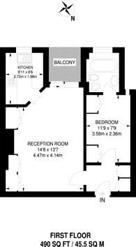 Large floorplan for Elm Tree Road, St John's Wood, NW8