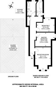Large floorplan for Hopton Road, Streatham, SW16