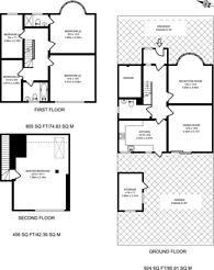 Large floorplan for Rochester Way, Blackheath, SE3