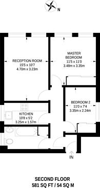 Large floorplan for Hamilton Lodge, Whitechapel, E1