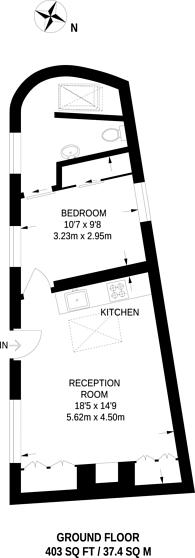 Large floorplan for Hesper Mews, South Kensington, SW5