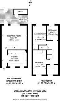 Large floorplan for Westbridge Road, Battersea, SW11