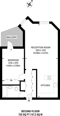 Large floorplan for Riverside Court, Vauxhall, SW8