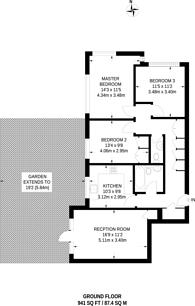 Large floorplan for Westwood Hill, Sydenham, SE26