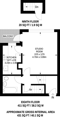 Large floorplan for Bath Street, Old Street, EC1V