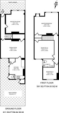 Large floorplan for St Marks Road, Mitcham, CR4