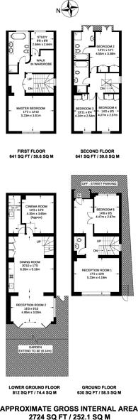 Large floorplan for Marlborough Hill, St John's Wood, NW8