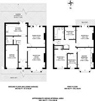 Large floorplan for Belltrees Grove, Streatham, SW16