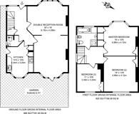 Large floorplan for Village Road, Finchley, N3