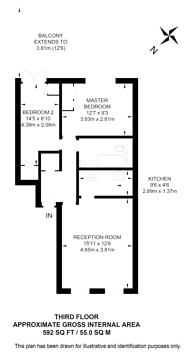 Large floorplan for Kensington, Kensington, W8