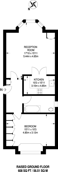 Large floorplan for Queens Road, Richmond Hill, TW10