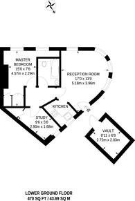Large floorplan for Charlwood Street, Pimlico, SW1V