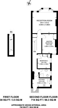 Large floorplan for Crown Terrace, Cricklewood, NW2