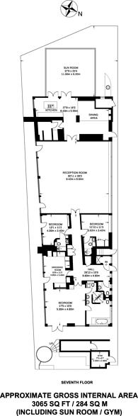 Large floorplan for Harrington Road, South Kensington, SW7