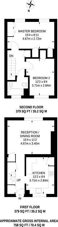 Large floorplan for Broadhurst Gardens, South Hampstead, NW6