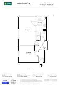 Large floorplan for Galsworthy Road, Kingston, KT2