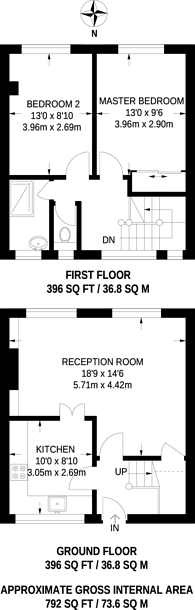 Large floorplan for Shoreham Close, Wandsworth Town, SW18