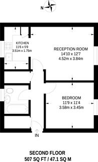 Large floorplan for Fawcett close, Clapham Junction, SW11
