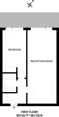 Large floorplan for Northcote Avenue, Ealing Broadway, W5