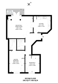 Large floorplan for Worple Road, Wimbledon, SW19