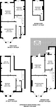 Large floorplan for Osbaldeston Road, Stoke Newington, N16