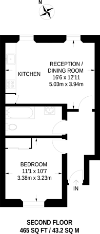 Large floorplan for Upper Tachbroook Street, Pimlico, SW1V
