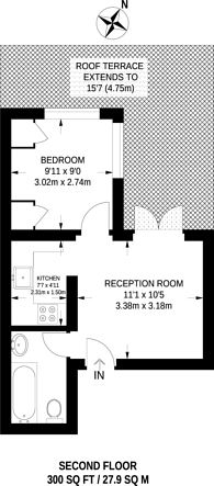 Large floorplan for Bateman Street, Soho, W1D