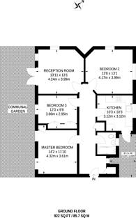 Large floorplan for Lyttelton Road, Hampstead Garden Suburb, N2