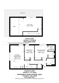 Large floorplan for Bazalgette Court, Hammersmith, W6