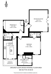 Large floorplan for Cambalt Road, Putney, SW15
